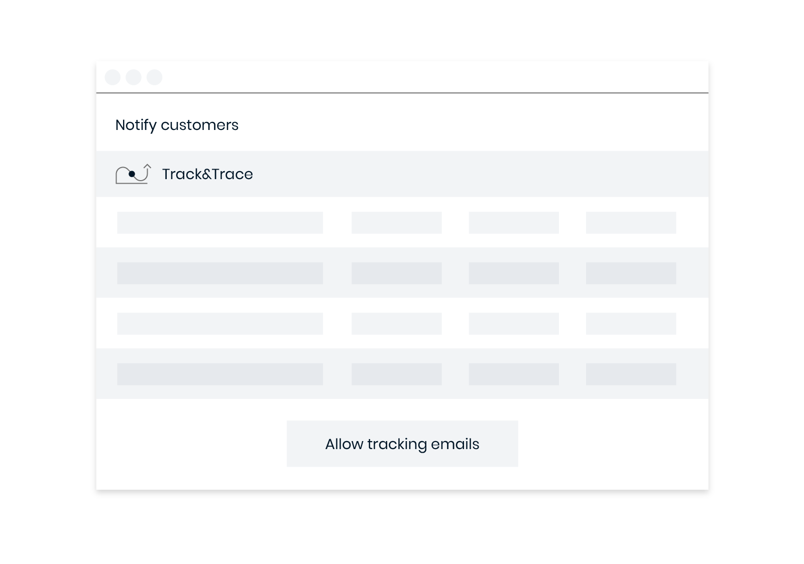 Proactively inform your customers with branded tracking notifications