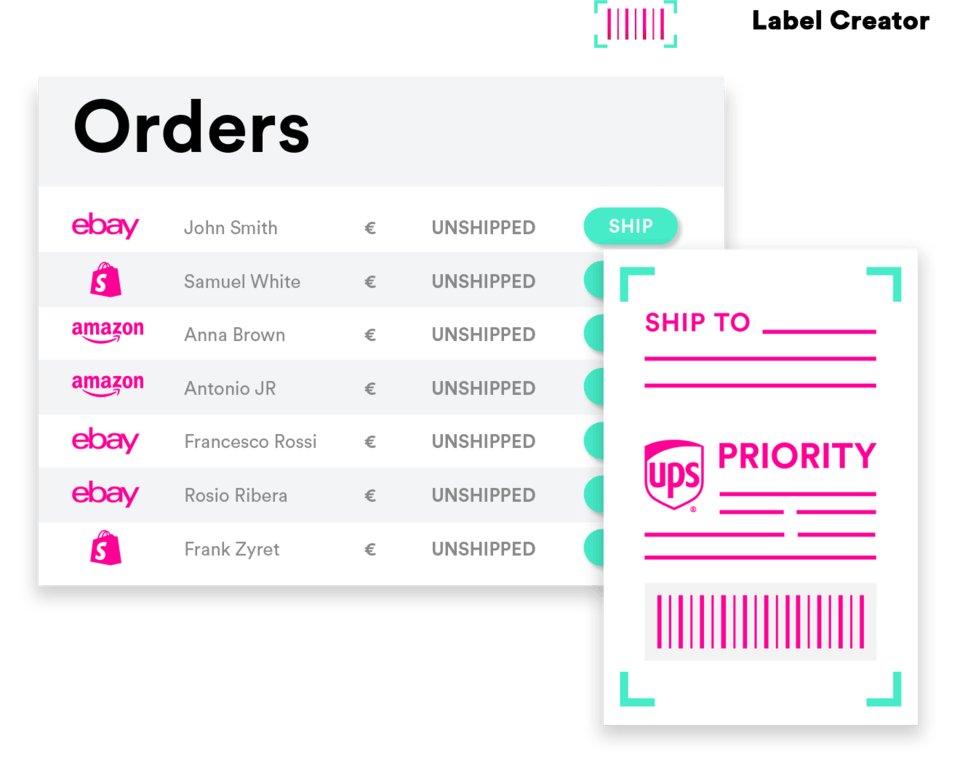 Compare shipping rates and print shipping labels