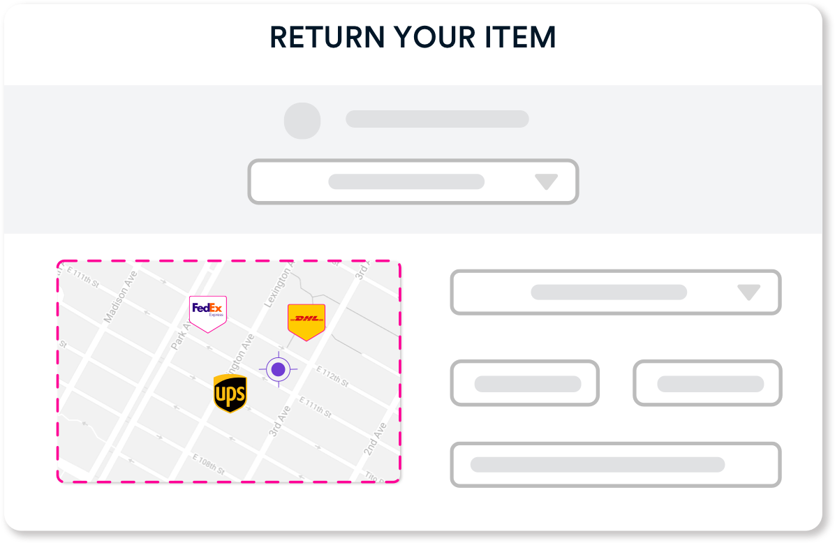 Include the Drop Off Point Map directly on your Return Process